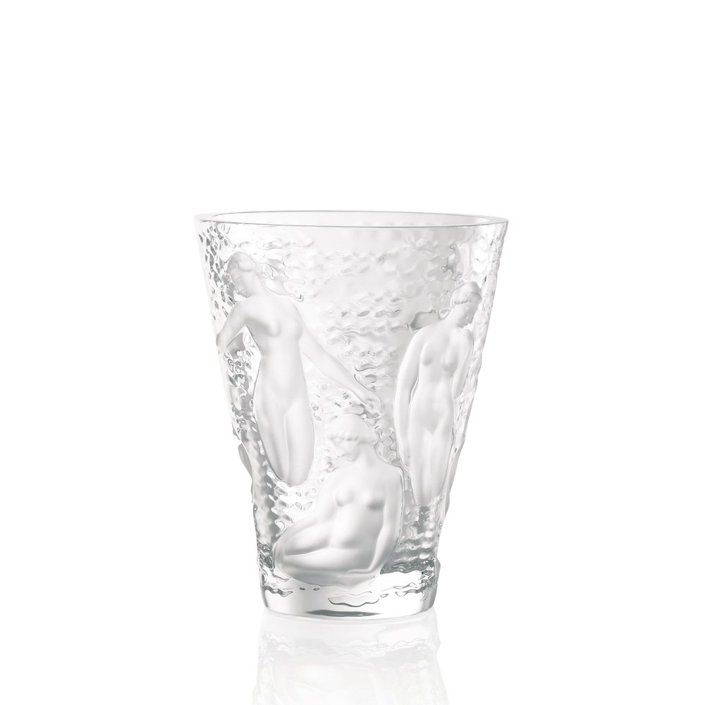 Vase ondines lalique vessiere cristaux for Lalique vase