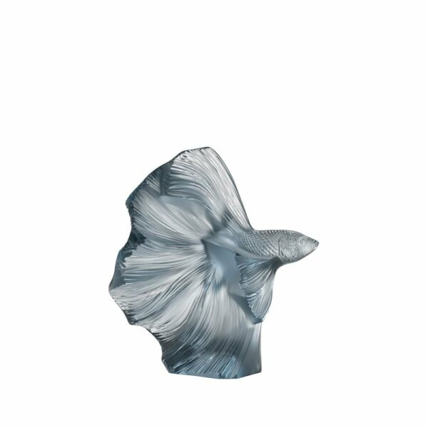 Lalique fighting fish small sculpture
