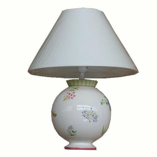 Lampe vent de fleurs st clement faience