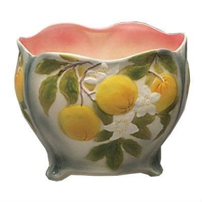 vase anemones faience barbotine vessiere cristaux. Black Bedroom Furniture Sets. Home Design Ideas