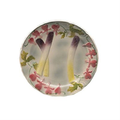 assiette-asperge-faience-barbotine
