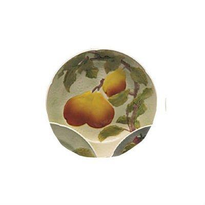 assiette-poire-barbotine-faience
