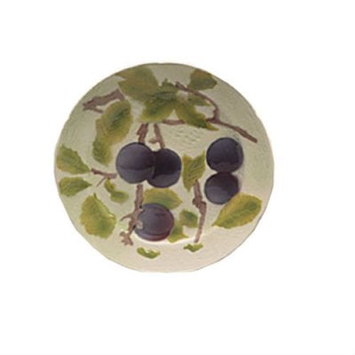 assiette-raisin-barbotine-faience