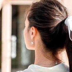 boucles oreilles en cristal et argent lalique collection muguet