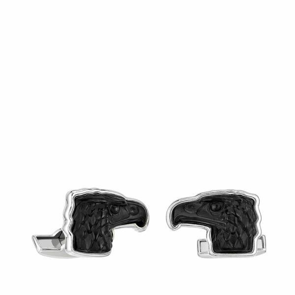 Black eagle mascottes Lalique cufflinks