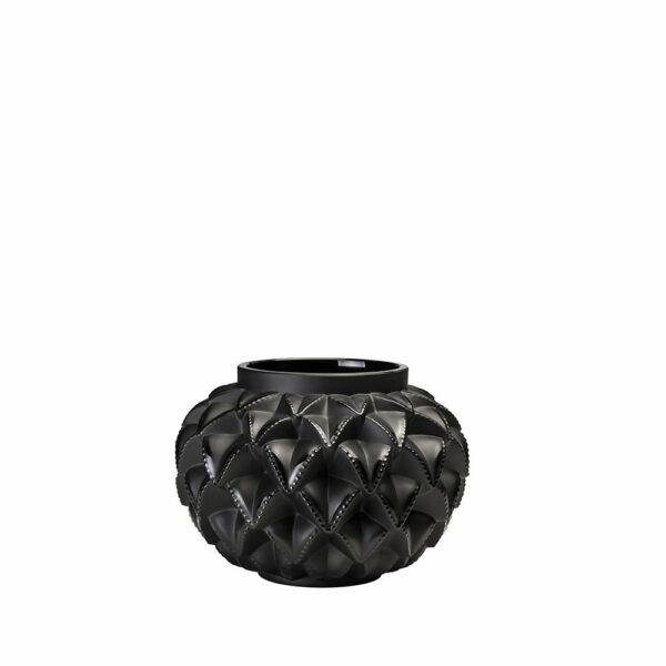 Black lalique languedoc small vase