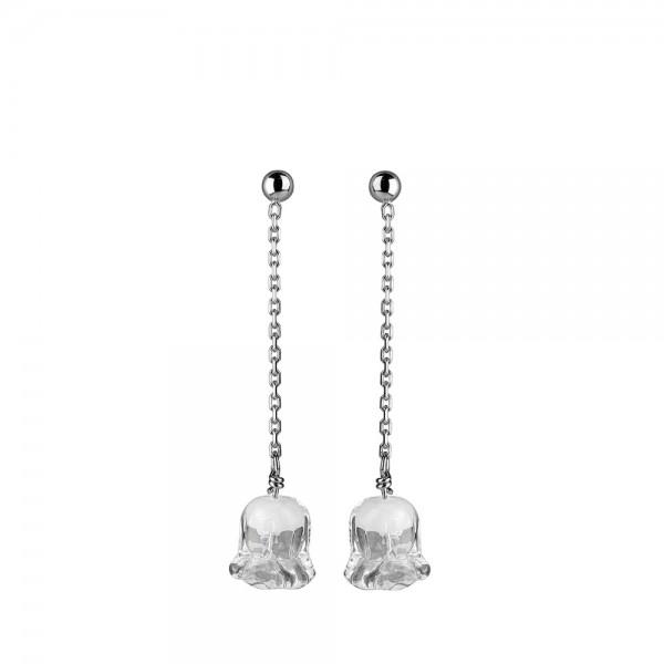 boucles oreilles en cristal et argent muguet Lalique