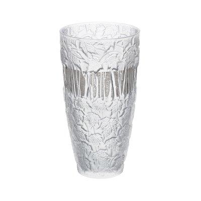 Fuchsia Anemones Bud Vase Lalique Vessiere Cristaux