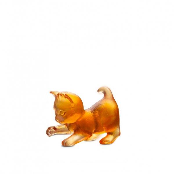 Mini-chaton-joueur-ambre-cristal-daum