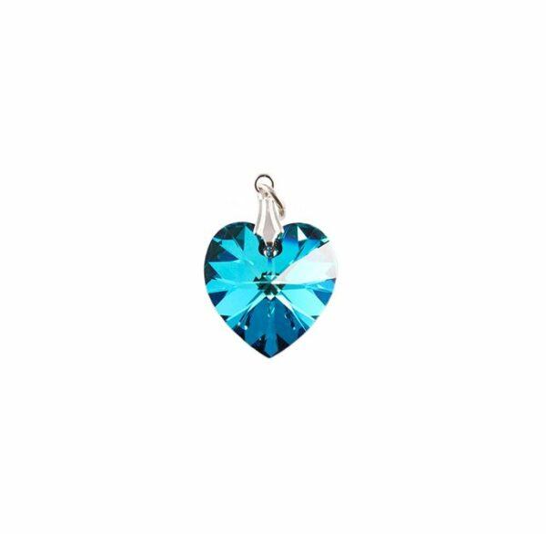 Pendentif coeur cristal turquoise e1526656479769