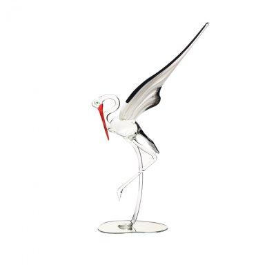 Sculpture-cigogne-cristal