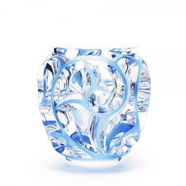 vase tourbillons bleu xxl lalique - Lalique Vase