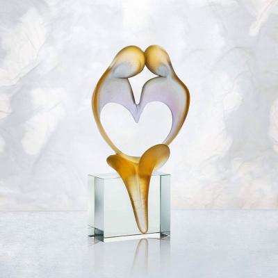 sculpture Fanjol coeur en cristal Daum France