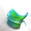 feuille ginkgo en pate de verre Daum France
