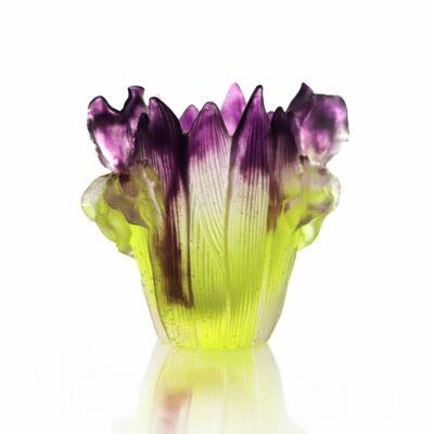 petit vase iris cristal Daum France