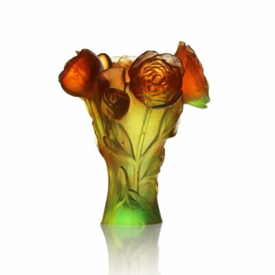 vase-pivoine-vert-orange-daum-france