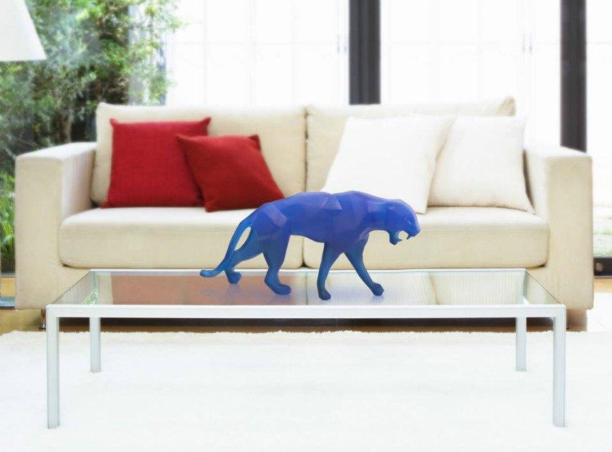wild panther bleu orlinski daum vessiere cristaux. Black Bedroom Furniture Sets. Home Design Ideas