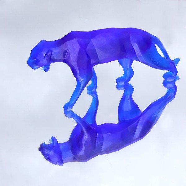 Sculpture-panthere-bleu-orlinski