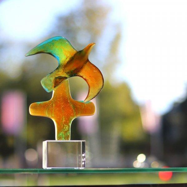 sculpture colombe en cristal Daum France