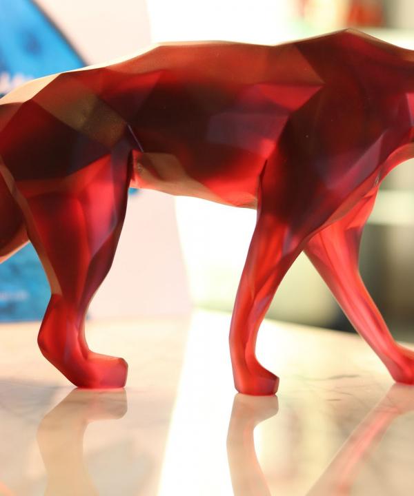 panthere-cristal-rouge-daum-orlinski