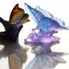 sculpture papillon bleu lilas Daum