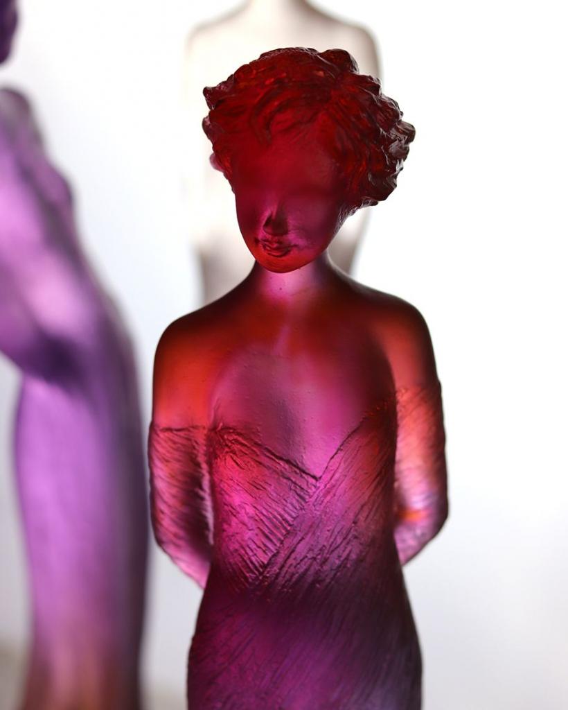 sculpture Margot en pate de cristal par Daum France