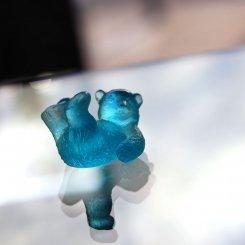 sculpture-petit-ourson-bleu-daum