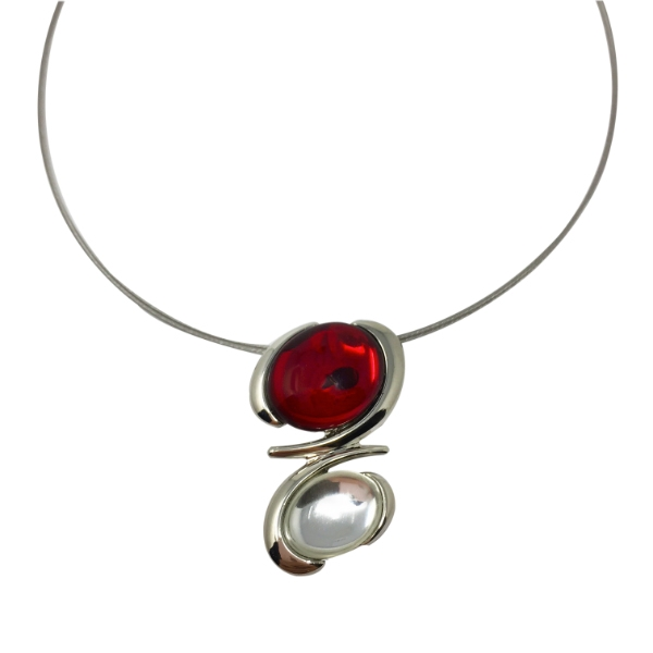 Collier-cristal-clair-rouge