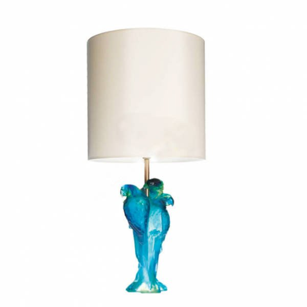 Macaw Lamp Blue Green Daum Vessiere Cristaux