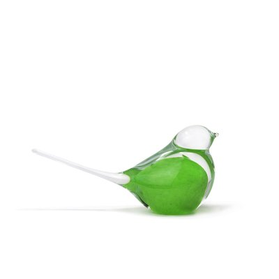 Sculpture-oiseau-moineau-cristal-vert