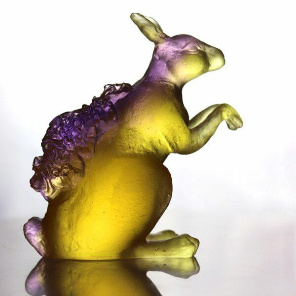 sculpture lapin en pate de verre daum france