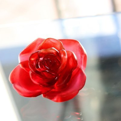 sculpture rose passion daum