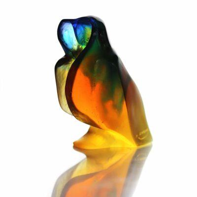 chouette love en pate de verre Daum France