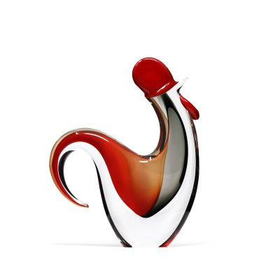 Sculpture-coq-rouge-cristal