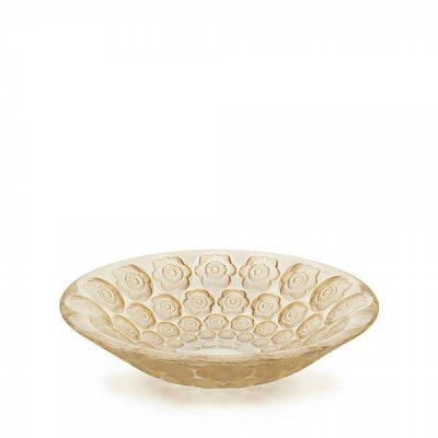 Coupe-anemone-cristal-lalique-or