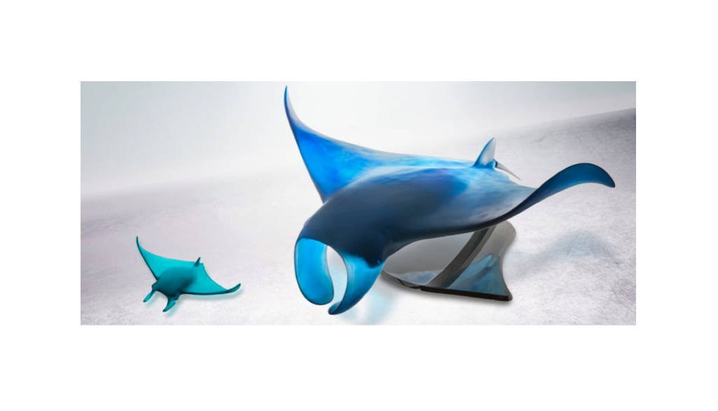 Xl Manta Ray By Umberto Ex 50 Vessiere Cristaux