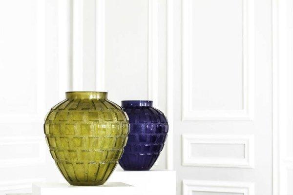 Rythme+-+vase+vert+olive+et+bleu