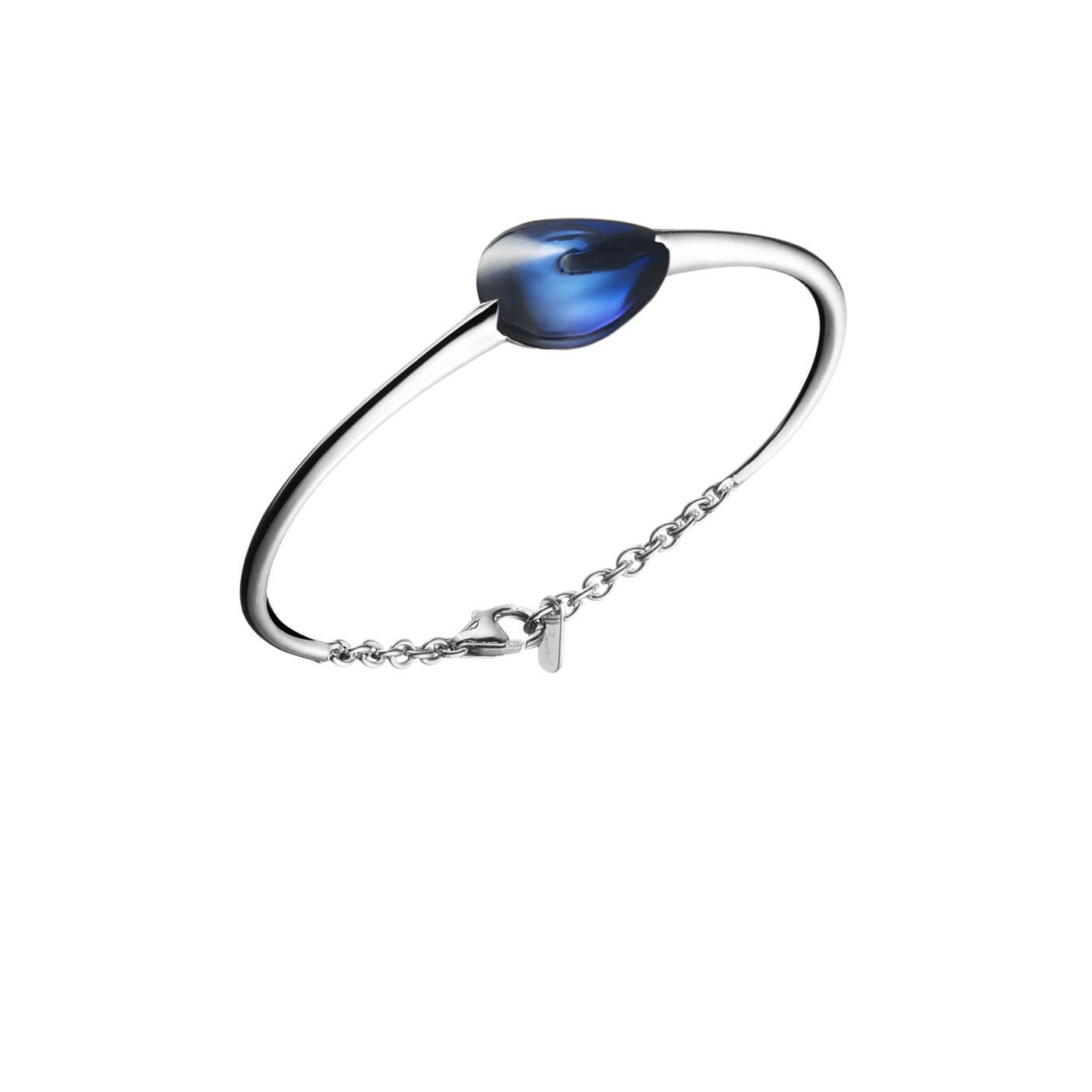 BACCARAT bijoux fleurs de Psydelic St Argent Bleu MORDORE Bracelet New France S