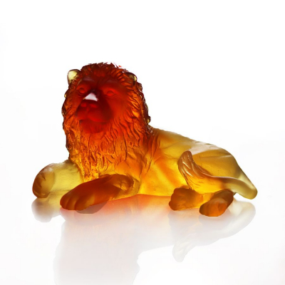 sculpture lion en cristal Daum France