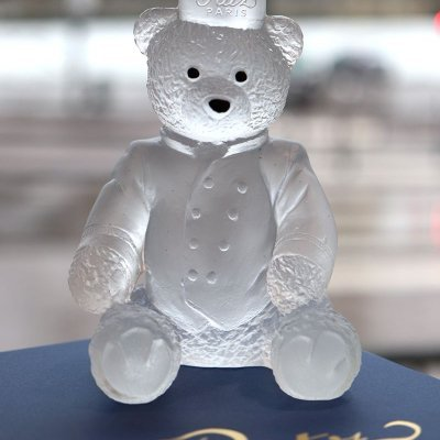 ourson en cristal clair Ritz Paris