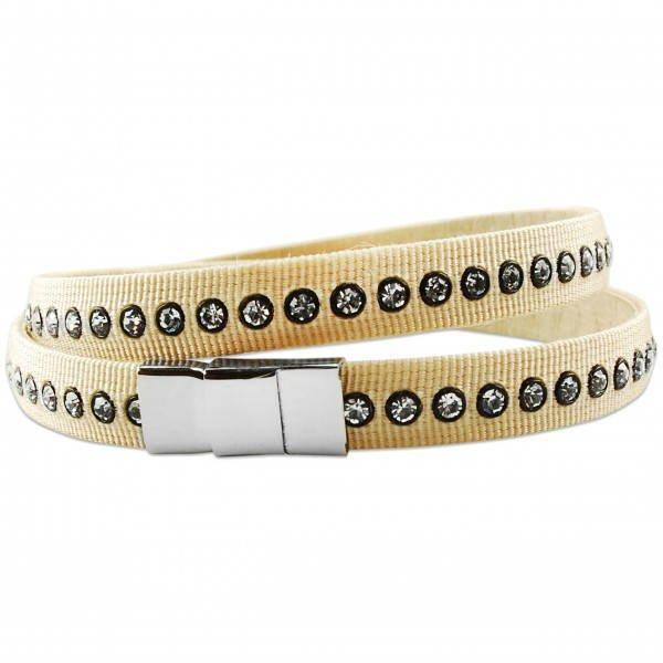 bracelet swarovski tissu
