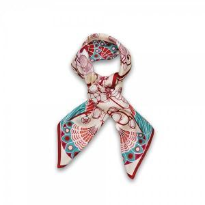 foulard-rose-soie-lalique