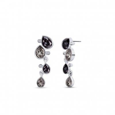 Boucles-oreilles-riviere-de-cristaux-gris-noir