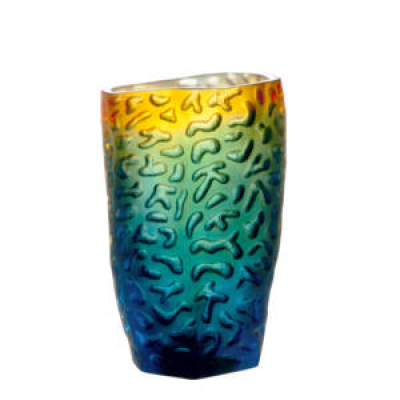 Vase+PM+bleu+nuit+ambre+daum