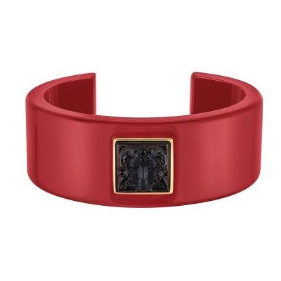 bracelet-arethuse-resine-rouge-lalique