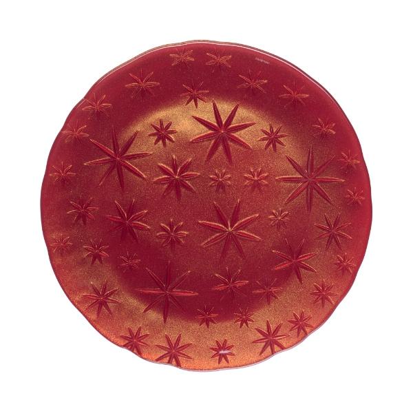 Assiette-stars-cristal-rouge
