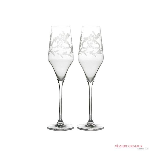 Flute-cristal-mariage-hirondelle