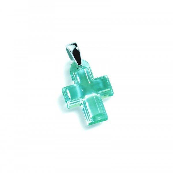 Pendentif-croix-cristal-turquoise-Lalique