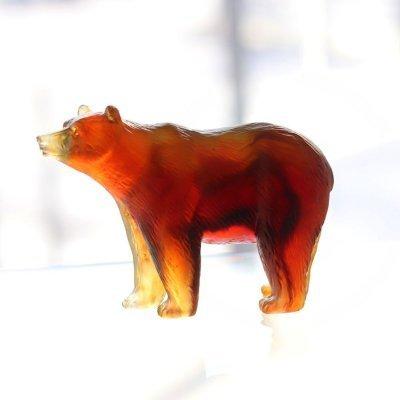 sculpture ours en cristal daum