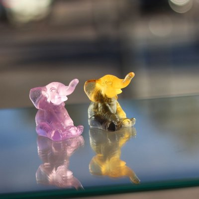 mini sculpture elephant daum france